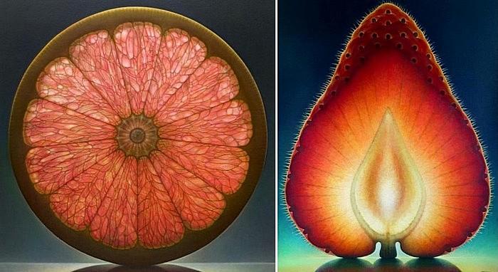 Цитрусовые цветы и клубничное пламя: масляная живопись Денниса Войткевича