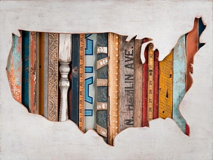 Деревянные картины американского деревенщика