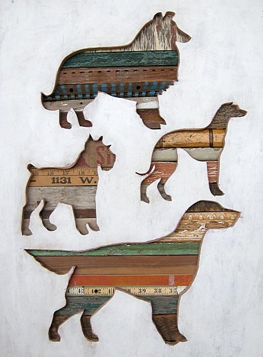 Картины Долана Геймана из деревяшек и балясин