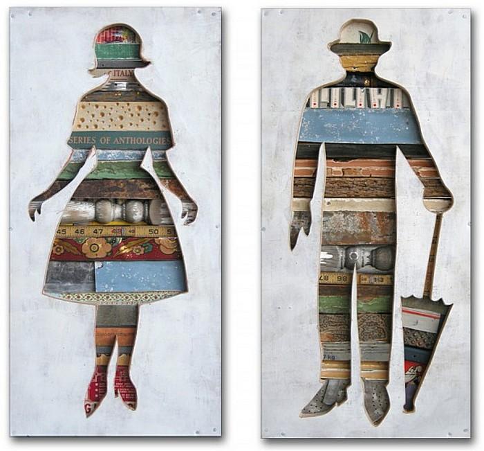 Немудреное содержание в простой форме: деревянные картины Долана Геймана