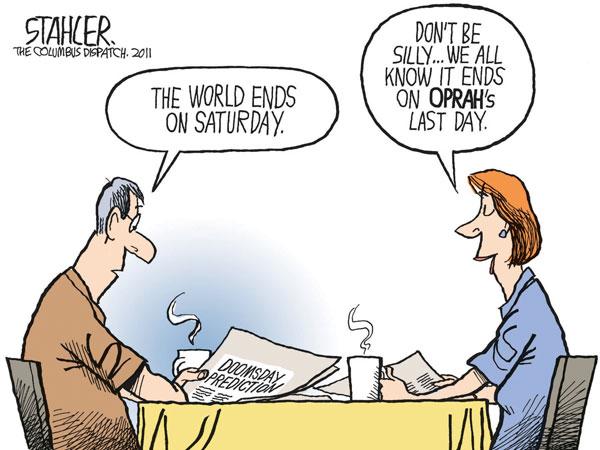 Карикатуры на тему не состоявшегося конца света: Опракалипсис