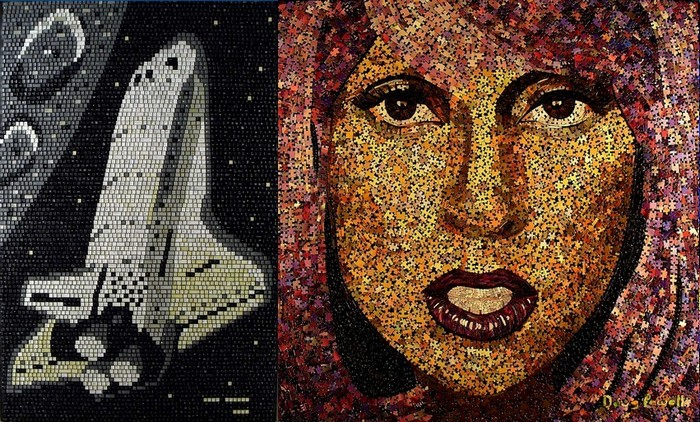 Рисунки мозаикой: картины из пазлов и клавиш Дуга Пауэлла