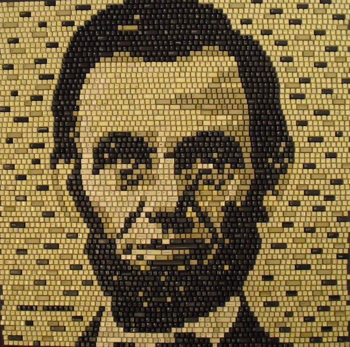 Рисунки мозаикой: Авраам Линкольн