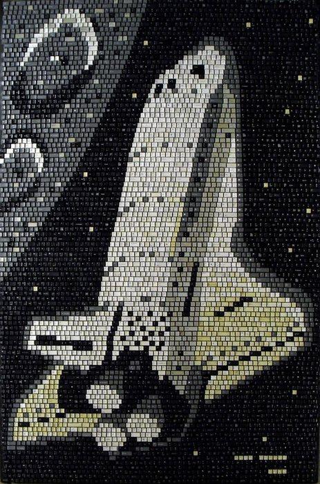 Рисунки мозаикой: последний полет шаттла