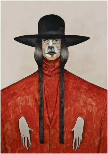 Такие разные рисунки Тары Дуганс: руки как будто закованы в колодки