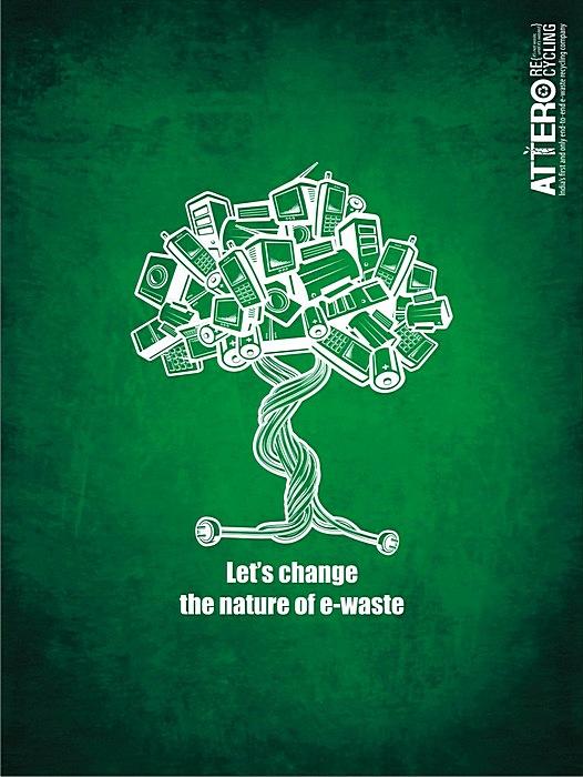 Креативные плакаты о ресайклинге: «Изменим природу электронных отходов»