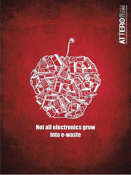 Креативные плакаты о ресайклинге: «Не вся электроника становится отходами»