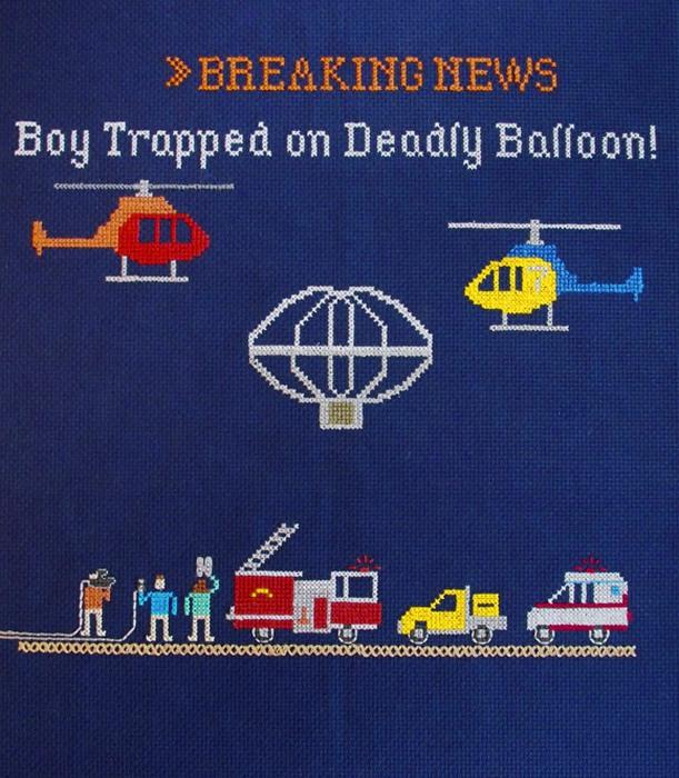«Не очень экстренный выпуск» Эмили Руз: мальчик улетел на воздушном шаре