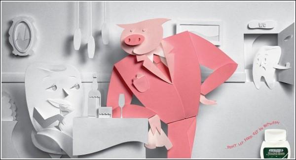 Пусть свинья не встревает! Забавная реклама флосса