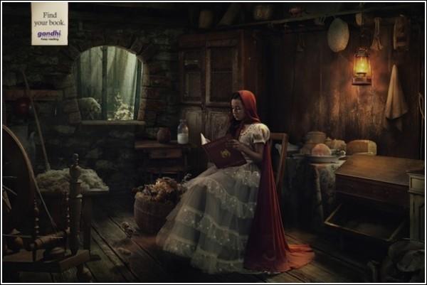 Забавная книжная реклама: Красная Шапочка и *Степной волк* Г. Гессе
