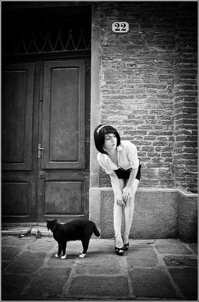 Черно-белые снимки Стефано Джакомини: нет ничего прекраснее женской красоты; разве что кошачья