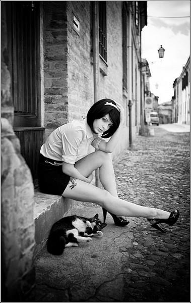 Черно-белые снимки Стефано Джакомини: кошачья грация