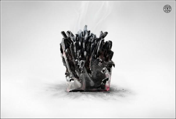 Необычная реклама спортзала: сожженная картошка фри