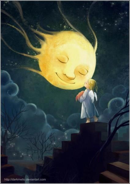 Цифровая живопись Мелани Си: «Спокойной ночи, миссис Луна»