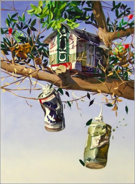 Домишки взбираются на деревья