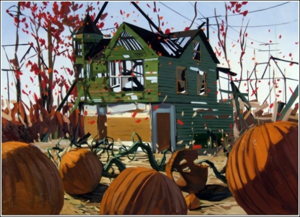 Живопись Бена Грассо: домишки и тыквы