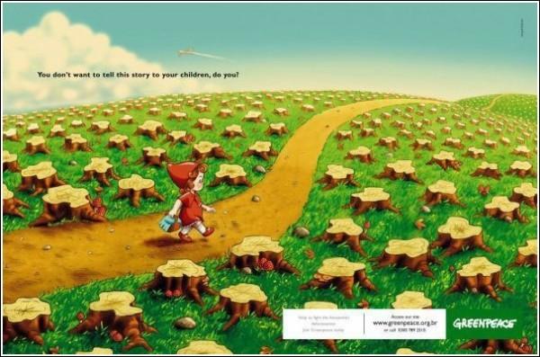 Зеленая реклама для детей и взрослых: Красная Шапочка