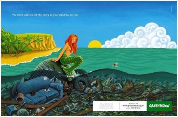 Зеленая реклама для детей и взрослых: Русалочка