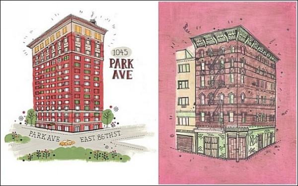Все здания Нью-Йорка на рисунках Джеймса Гулливера Хэнкока