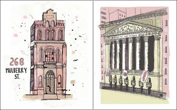 Все здания Нью-Йорка в розовой гамме