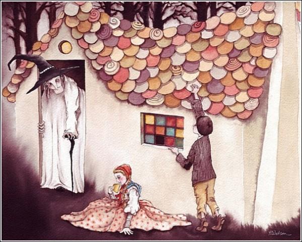 *Гензель и Гретель*: иллюстрации к книгам Карен Уотсон
