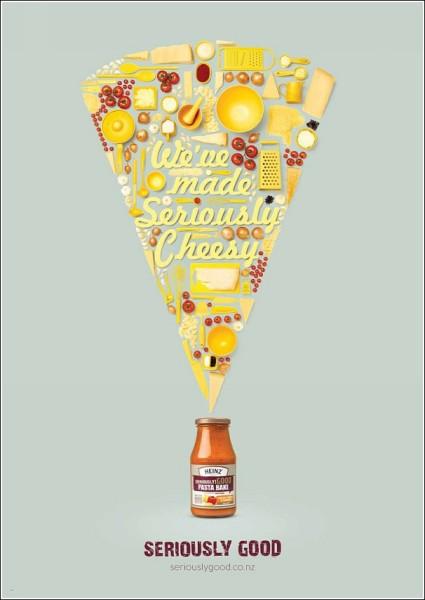Сыр из кухонной утвари и продуктов: оригинальная реклама соусов