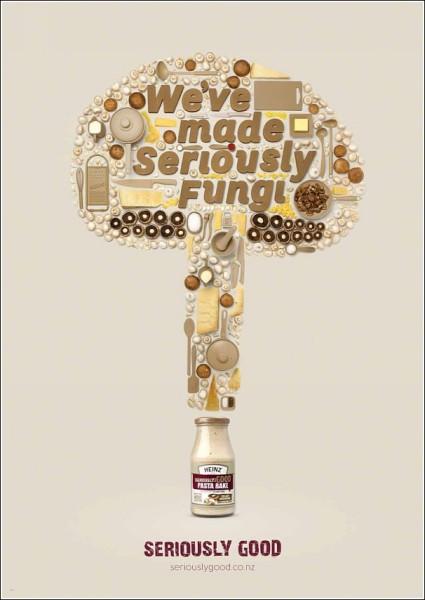 Гриб из кухонной утвари и продуктов: оригинальная реклама соусов
