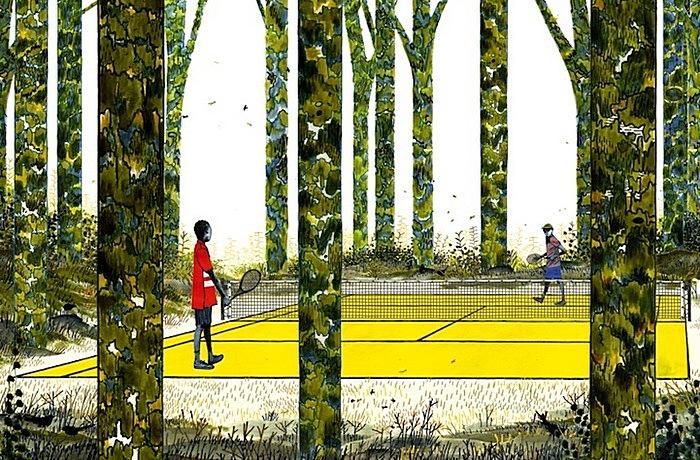 Лесной теннис: яркие рисунки Генри Маккаусланда