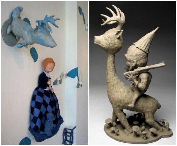 Странные керамические фигурки Бенджи Хью