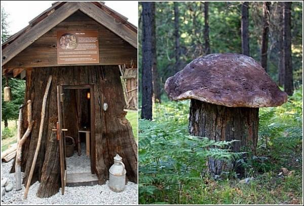 Жилище тролля и огромный гриб