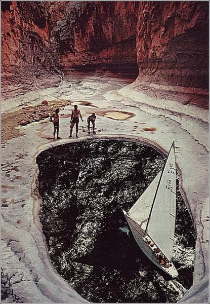 О, дивный старый мир вырезок из журналов: яхта