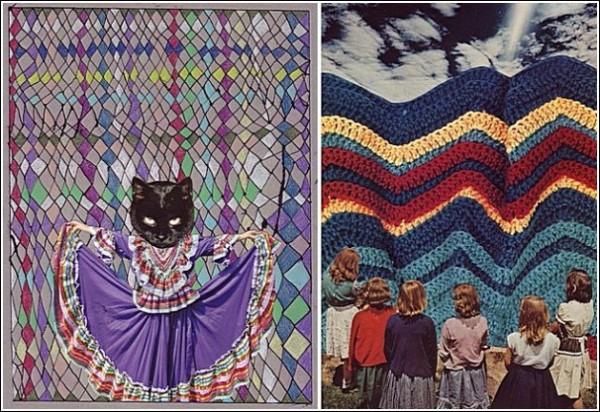 О, дивный старый мир вырезок из журналов: женщина-кошка и женщины просто