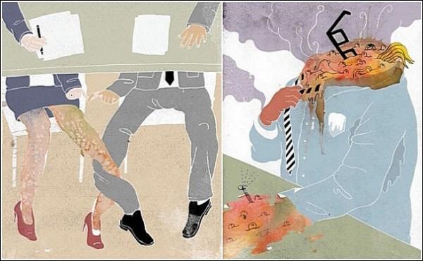 Что у меня с головой? Акварельные рисунки Ко-Хсин Хонг