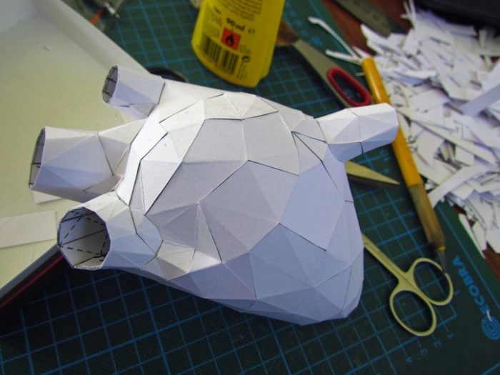 Бумажная скульптура Хорста Кихле: сердце