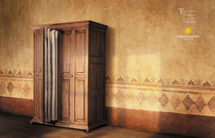 Многоуважаемый шкаф: креативная реклама гостиницы