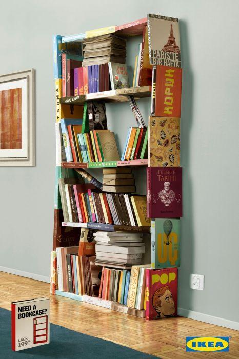 Шкафы из книг и для книг: креативная реклама «ИКЕА»