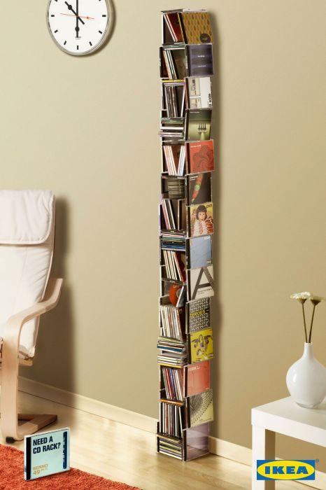 Шкафы из CD-дисков и для CD-дисков: креативная реклама «ИКЕА»