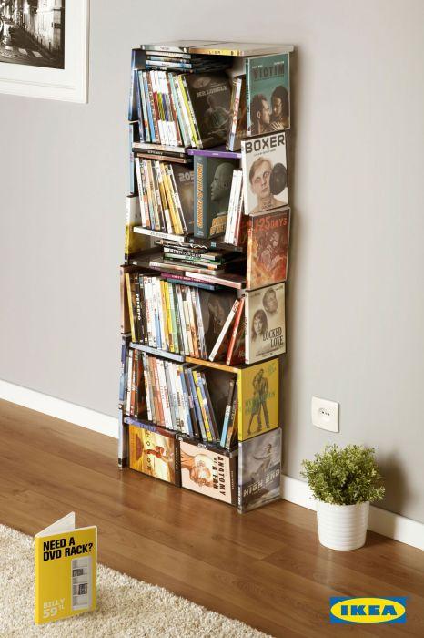 Шкафы из DVD-дисков и для DVD-дисков: креативная реклама «ИКЕА»