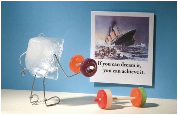 Остроумные фотографии Терри Бордера: «Мечты кубика льда»
