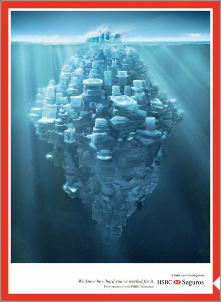Каждый человек должен построить айсберг: реклама страховой компании