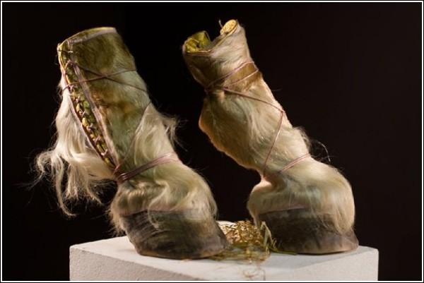 Необычная обувь Айрис Шниферштейн: пока еще только заготовки