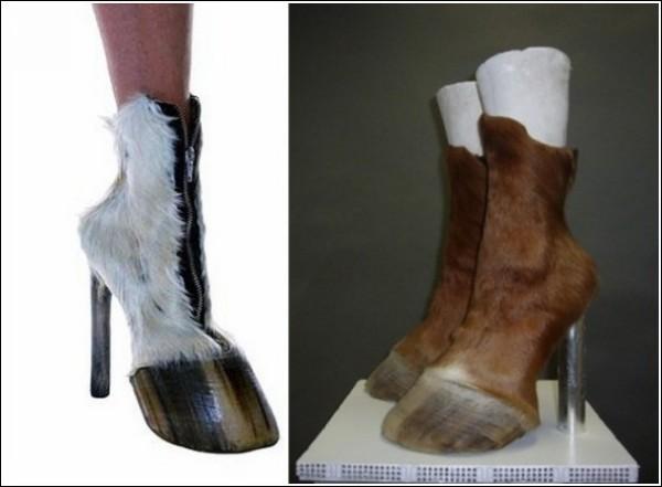 Меховые копытца: необычная обувь Айрис Шниферштейн
