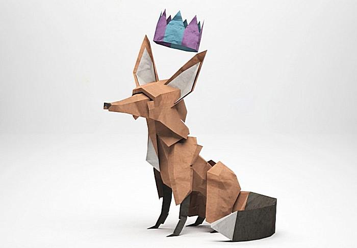 «Бумажный Лис» Джереми Кула: оригами или цветные иллюстрации?