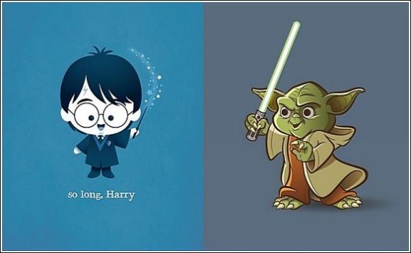 Гарри Поттер и мастер Йода: веселые рисунки Джеррода Маруямы
