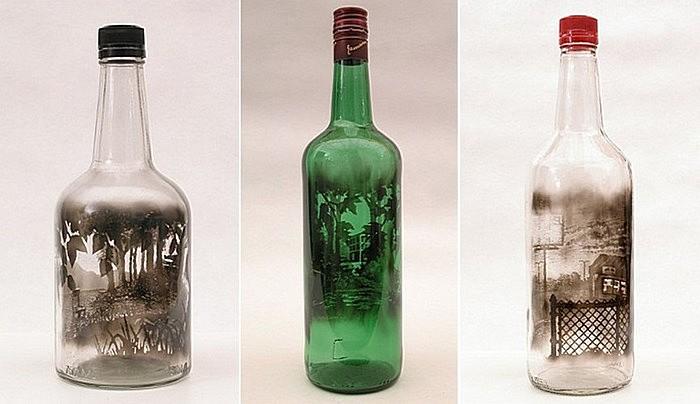 Пейзаж в бутылке: необычные картины Джима Дингильена