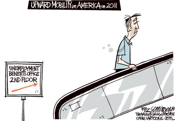 Проблема безработицы в американской карикатуре: вертикальная мобильность