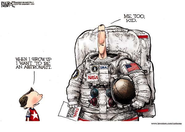 Проблема безработицы в американской карикатуре: хочу быть астронавтом