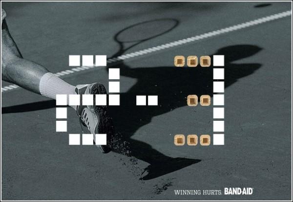 Оригинальная реклама бандажей: теннис