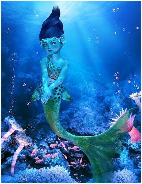 Маленькая русалочка: цифровая живопись Сьюзен Джастис