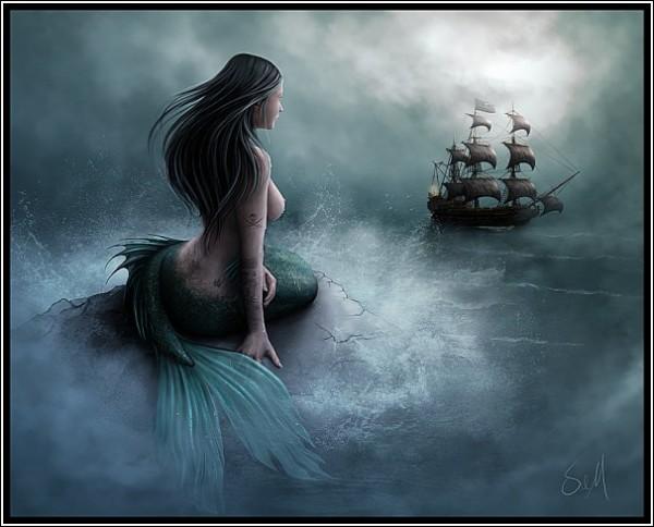 Взрослая русалка: цифровая живопись Сьюзен Джастис